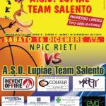 Basket in carrozzina:  sabato la sfida di cartello della Serie B tra Lupiae Team Salento e NPiC Rieti
