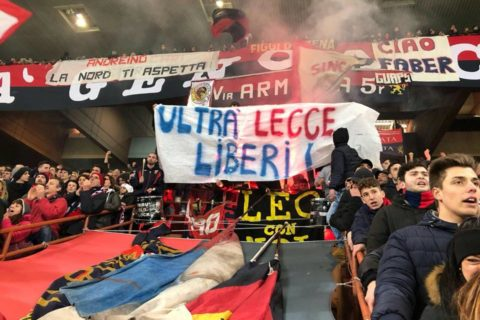 IL CLICK, solidarietà agli Ultrà Lecce dalla Genova rossoblù: ecco il motivo