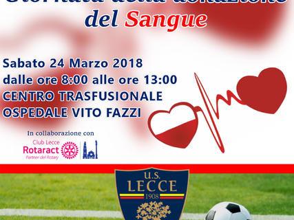 Giornata della donazione del sangue: biglietto gratis per Lecce-Siracusa a chi darà il proprio contributo