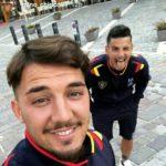 """""""Scattila Mino mia"""": il selfie di Chiricò e Falco da Terminillo"""